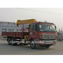 Venta caliente Foton 6x4 camión grúa 9-12 ton