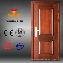 Design principal porta de madeira MDF de aço