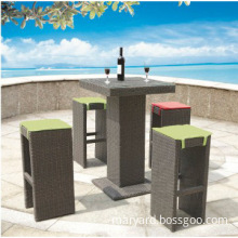 2014 modern design cheap furniture outdoor wicker high dining bar set