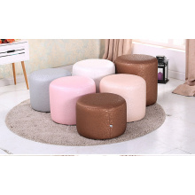 Round artificial leather bed sofa bench
