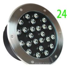 D250mm Landschaftsgestaltung 24W LED Bodenleuchte