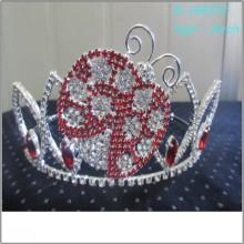Vente en gros de perles de longues boucles d'oreilles en perle pleine couronne de tiare personnalisée