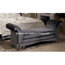 Post modernos del dormitorio tela cama taburete (LS-112)