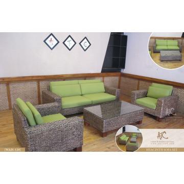 Luxus-Design Wasser Hyazinthe Korbweide-Sofa-Set