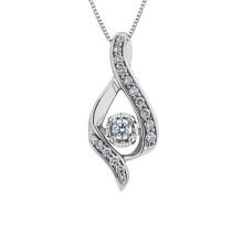 High Quality CZ 925 Silver Pendants Necklace for Gift