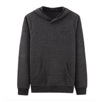 Sudaderas con capucha al por mayor en blanco al por mayor en blanco masculinas del paño grueso y suave del algodón del logotipo