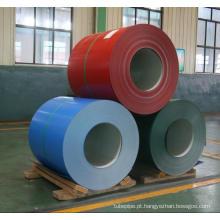 Cor da fábrica chinesa revestido de bobinas de aço