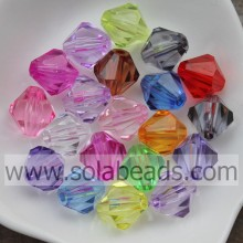 Variety of 16MM Faceted Tapered Plastic Pandora Beads