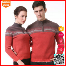 Hot selling cashmere thick sweater half zip couple cashmere sweater