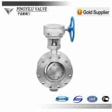 large size double flange butterfly valve D343H-16C