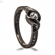 Модная Черная Медь Ювелирные Изделия Нефрит 925 Серебро Смолаы Диаманта Дизайн Кольца Для Женщины