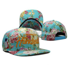 New Fashion Floral All-over Printed Classic Hip- hop Falt Bill Caps