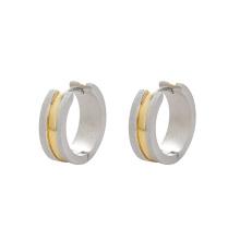 E-562 xuping style simple multicolore en acier inoxydable bijoux mode dames boucles d'oreilles