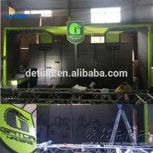 Cabine portátil do alumínio da exposição da feira profissional do suporte verde da exposição da ilha 3x6