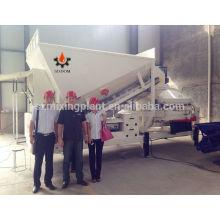 10 м3 / ч Мини-мобильный / полумобильный бетонный завод по дозированию / смешиванию