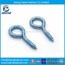 Zinc plated carbon steel eye screw,eye hook
