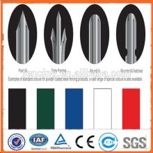 PVC-beschichtete Speer-Oberseite Zink-Stahlrohr-Zaun im Garten, Haus, Fabrik, Schule, Villa (Fabrik u. Exporteur)