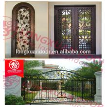 Diseños de puertas de vidrio de hierro forjado proveedor de Alibaba
