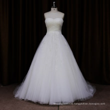 SL454 simple ruched A-line wedding dress