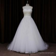 SL454 простой ruched-линии свадебное платье