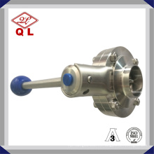 Ss316L Válvula de mariposa sanitaria de múltiples posiciones soldada de acero inoxidable higiénico