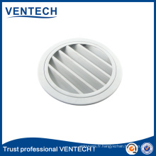 Persienne ronde imperméable de haute qualité pour l'utilisation de ventilation