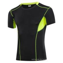 Fitness & Sports Enge elastische Kurzarm Herren Activewear T-Shirts