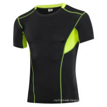 Fitness & Sports Tight Elastic Short-Sleeve Men Activewear T-Shirts