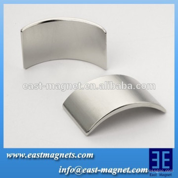 Permanent arc Neodymium Magnet with high quality/n35-n52 segment magnet for turbine