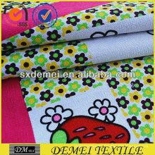 diseño floral de tapicería tela de la impresión grande