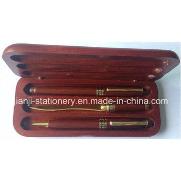 Cadeau en bois stylo Set Stylo plume Ball Pen coupe-papier