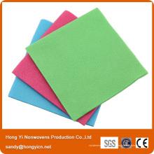 Chiffon de nettoyage en tissu non tissé, sans peluche et à absorption élevée