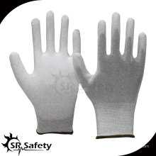 SRSAFETY 13G Бесшовные трикотажные нейлоновые и углеродные вкладыши PU ладонь работают перчатка