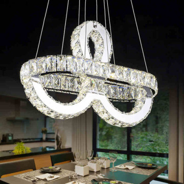 Tomada de fábrica LED Pendant Light Luxury Crystal Chandelier