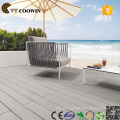 Groove light grey wpc outdoor floor