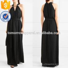 Изящный черный и белый без рукавов V-образным вырезом Миди летнее платье Производство Оптовая продажа женской одежды (TA0252D)