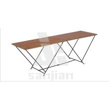 Sj2003-une table pliante en bois de 2 m