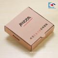 caixa de empacotamento dada forma livre da pizza caixa de papel dobrando personalizada da pizza