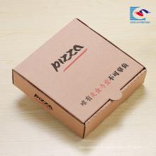 boîte de emballage ondulé de pizza de conception personnalisée avec logo