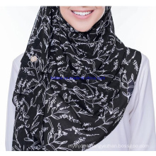 Custom Printing Chiffon Pr Satin OEM Custom Printing Muslim Scarf Hijab