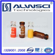 2ml claro escriba vidrio prensado tapa vial reactivo químico botella Agilent Calidad