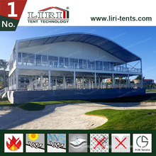 Arch Dome Roof Double Decker Sports Event Tent with Galss Walls for Golf Events