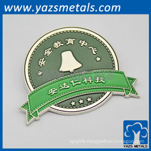 round shaped metal lapel pin for education central