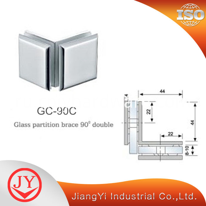 90 Degree Shower Door Glass Clamp
