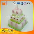 Bougies en forme de gâteau d'anniversaire de cire de haute qualité