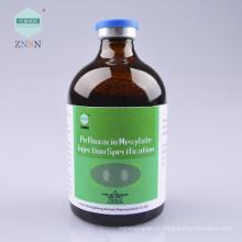 Инъекции пефлоксацина Мезилата, используемые для бактериальной болезнью курицы и микоплазменной инфекции