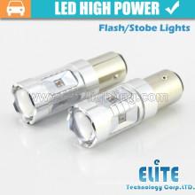 Newest!!! 30W auto led light baz15d P21 T20 led strobe/flash brake light bulb