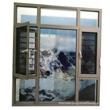 Aluminum Casement Window with Diamond Mesh