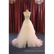 Venda quente Beading Tulle Nupcial Vestidos de casamento de noite