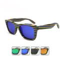 FQ marca fábrica exportação quente estilo madeira polarizada homem ciclismo óculos de sol